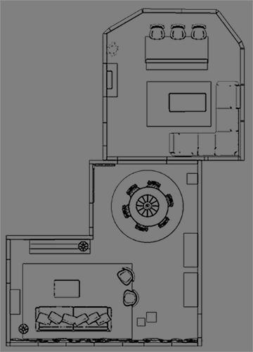 2D plattegrond diensten interieur